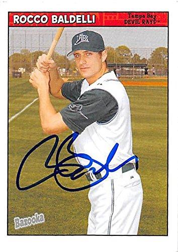 Rocco Baldelli autographed baseball card (Tampa Bay Rays) 2006 Topps Bazooka #194 - Baseball Slabbed Autographed Cards