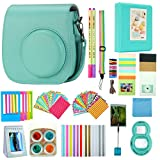 Anter 17 in 1 Instax Mini 9 Mini 8 Mini 8+ Accessories for Fujifilm Instax Instant Film Camera with Case/Pen/ Stickers/Frame/ Memo Clip/Cloth/ Album/Selfie Lens/Filters/ Strap (Mini Mint)