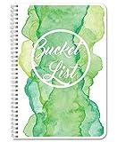 BookFactory Bucket List Journal/Bucket List Diary/Log Book 206 Pages 6'' x 9'' Wire-O (LOG-206-69CW-A-(BucketList))