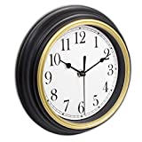 Cheap 45Min 9-Inch Retro Wall Clock, Silent Non-Ticking Round Home Decor Wall Clock with Arabic Numerals