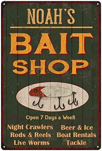 Amazon Com Chico Creek Signs Noah S Green Bait Shop Man Cave 8 X 12