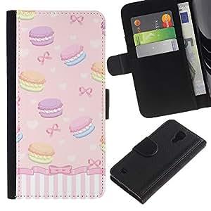iKiki Tech / Cartera Funda Carcasa - Sweets Bowtie Girls Dessert - Samsung Galaxy S4 I9500