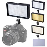 312 Ultra Bright Dimmable LED HDSLR Studio Light Panel 3200k-5600k Color Temperature w/ AC Plug USB Charger Car Carrying Bag & for Professional Photography Video Camera Camcorder DV