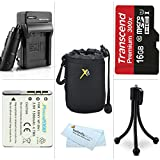 16GB Accessories Kit For Sony Cyber-shot DSC-QX10, DSC-QX100, QX100/B, DSC-QX10/W, DSC-QX10/B, QX30 Smartphone Attachable Lens-style Camera Includes 16GB High Speed Micro SD Card + Replacement (1100Mah) NP-BN1 Battery + Charger + Soft Lens Carrying Case +