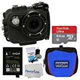 Intova X2 Marine Grade Waterproof 16MP Action Camera – Wi-Fi + Intova Sport HD Camera Bag + 64GB MicroSDXC Memory Card + Intova Spare Battery + 5 Piece Cleaning Kit + Cleaning Cloth + Accessory Bundle Action Cameras Intova