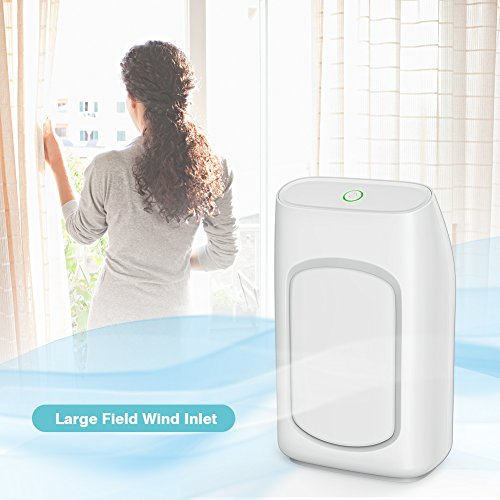 Afloia Electric Home Dehumidifier, Portable Dehumidifier 700ml (24fl.oz) Capacity up to (215 sq ft) Deshumidificador, Quiet Room Small Dehumidifiers for Home Dorm Room Baby Room RV Crawl Space by Afloia (Image #2)