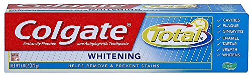 (Colgate Total Plus Whitening Toothpaste, Gel, 6 ounces (Pack of)