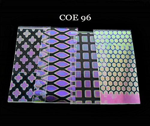 COE 96 DichroMagic 1/4 lb Dichroic Scrap Thin Clear Pattern Jeweler's Scrap Austin Thin Films