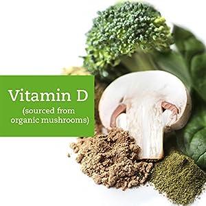 Supergreens +D - Organic & Vegan Vitamin D (2000 IUs), 5 Billion Probiotics, Digestive Enzymes, Superfoods – Best for Gut Health, Immunity, Digestion (30-Day Supply)