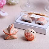 Blue Stones Ceramic Shells starfish Salt & Pepper Shaker Wedding Favors And Gifts For Guests Souvenirs Decoration Event & Party Supplies