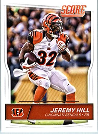 Amazon.com  2016 Score  65 Jeremy Hill Cincinnati Bengals Football Card in  Protective Screwdown Display Case  Collectibles   Fine Art bc07eac0b