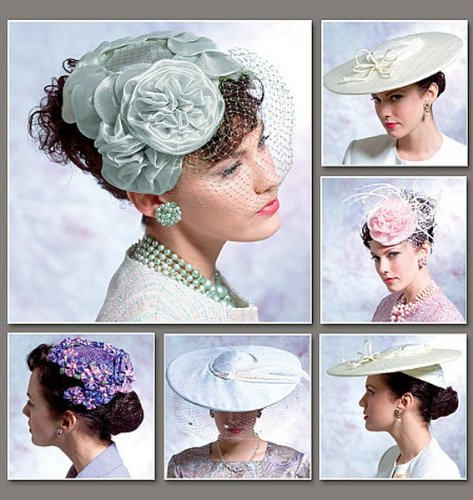 Tea Party Hats – Victorian to 1950s Vintage Hats Pattern $11.37 AT vintagedancer.com