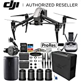 DJI Inspire 2 Quadcopter with Apple ProRes License with DL & DL-S Lens Set & Zenmuse X7 Camera and 3-Axis Gimbal Bundle