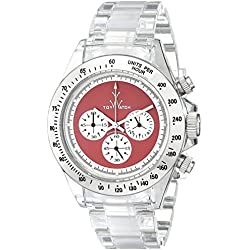 Toy Watch Men's 6010RDP Analog Display Quartz Clear Watch