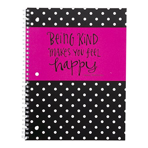DaySpring Sadie Robertson's Spiral Bound Notebook, Being Kind Makes Your Feel Happy (76283)
