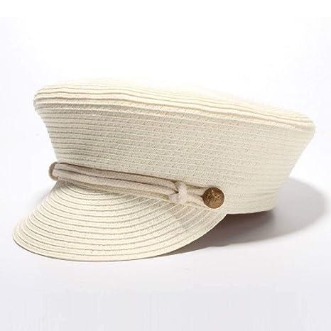JJJRMP Sombreros De Moda Sombrero De Marinero para Mujer Verano ...