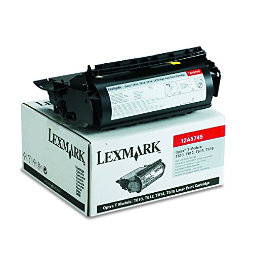 (Lexmark 12A5745 High-Yield Toner, 25000 Page-Yield, Black )