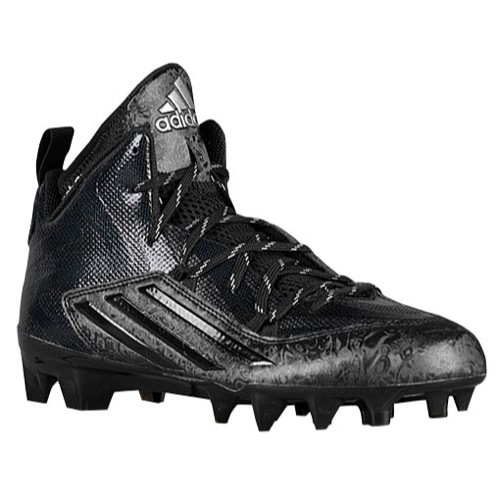 adidas Men's Crazyquick 2.0 Mid Football Cleats (15, Core Black)