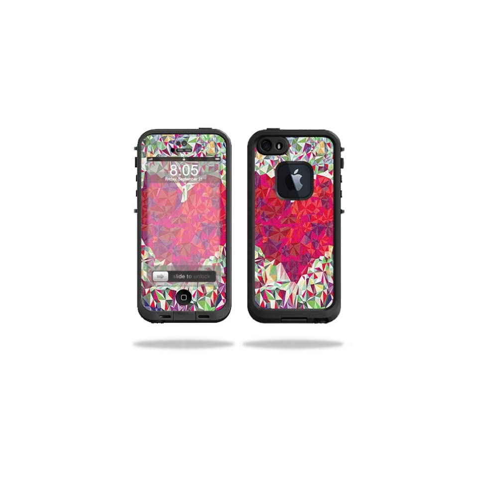 Mightyskins Protective Vinyl Skin Decal Cover for LifeProof iPhone 5/5s/SE Case fre Case wrap sticker skins Stained Heart