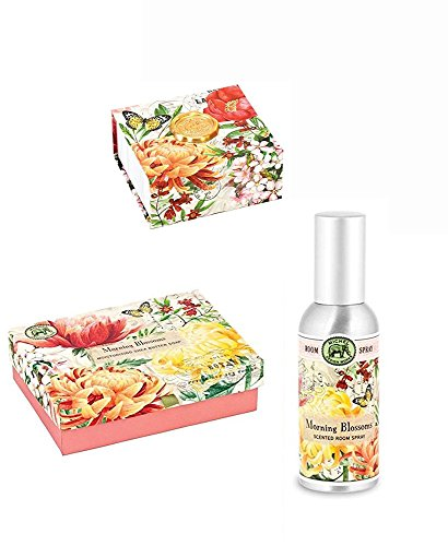 Boxed Fragrance (Triple Milled Shea Butter Double Soap Boxed, Fragrance Spray, Note Blox Paper and Matchbox - Morning Blossoms)
