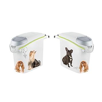 Curver Petlife Perro contenedor de almacenamiento de alimentos, 6 KG (15 Litro), EF505825: Amazon.es: Hogar