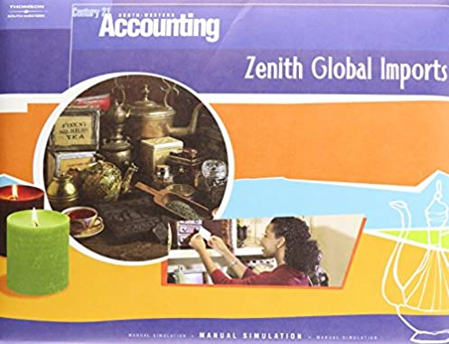 amazon com century 21 accounting zenith global imports manual rh amazon com