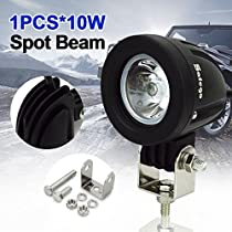 Safego ATV Trucks LED Flood Work Light Bar OffRoad Car 4X4 Fog Driving Lamp 4WD Truck Tractor Jeep 12V 24V 60 Degree Pack of 2