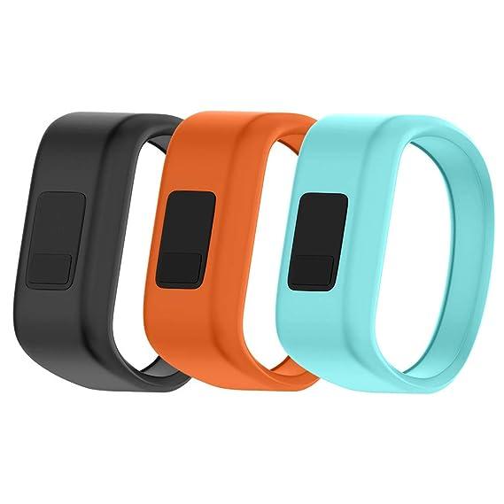 NotoCity Compatible Garmin Vivofit JR Watch Band Soft Silicone Replacement Bands for Garmin Vivofit JR/Vivofit JR 2/Vivofit 3 Smartwatch (3pcs-3, ...