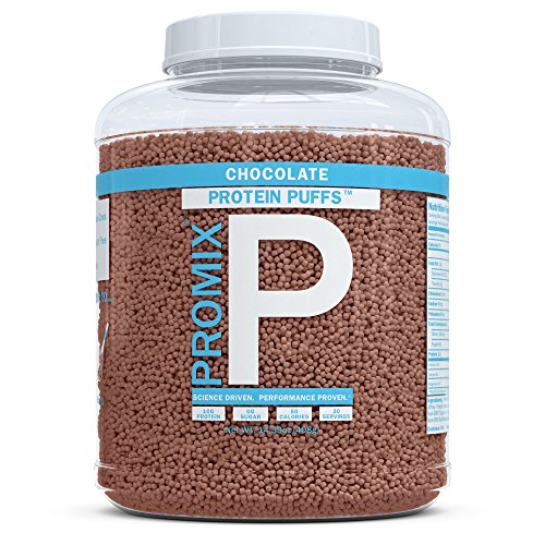 ProMix Whey Protein Isolate Puffs, Chocolate, 30 Servings | 10g Protein, 0g Sugar, 50 calories per serving | Grass Fed Protein Crisps, Healthy High Protein Low Sugar Snacks | Gluten Free (Protein Quest Unflavored)