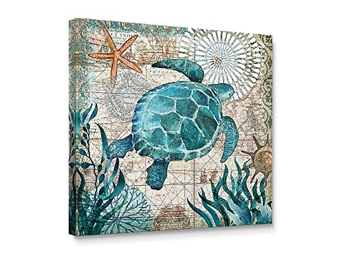 - Niwo Art-Turtle, Sea Animail Canvas Wall Art Home Decor,Stretched Ready to Hang