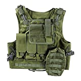 FENICAL Molle Amphibious Tactics Field Operations Adjustable Tactical Vest(Army Green)