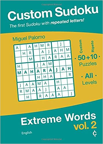 custom sudoku extreme words english volume 2 miguel palomo