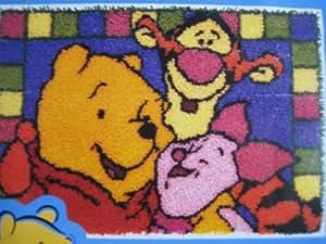 Amazon Com Latch Hook Kit 20 Quot X 30 Quot Pooh Disney Hundred