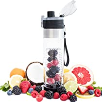 BOZ Fruit Infuser Water Bottle, BPA-Free, Fruit Infused Water with Recipe eBook