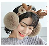Epsion Earmuffs for Children Hilarious Kids Winter Ear Warmers Elk Christmas Earwarmer Khaki