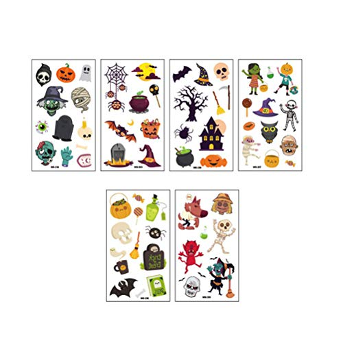 FENICAL 0 Sheets Tattoo Stickers Waterproof Funny Body Decor Stickers for Festival Party Gathering Fake Black Temporary Fashion Hallowmas -