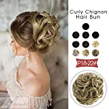 Vlasy Scrunchie Bun Updo Hairpiece Synthetic Hair Bun Extensions Messy Hair Scrunchies For Women Messy Donut Hair Chignons Thick (Large, 18/22#)