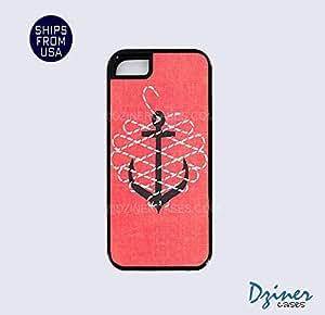 iPhone 5 5s Tough Case - Pink Black White Geometric iPhone Cover wangjiang maoyi by lolosakes