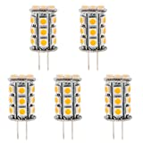 HERO-LED BTG6-24T-WW Back Pin Tower GY6.35 Low Voltage 12V LED Halogen Replacement Bulb, 3.5W, 30-35W Equal, Warm White 3000K, 5-Pack(Not Dimmable)