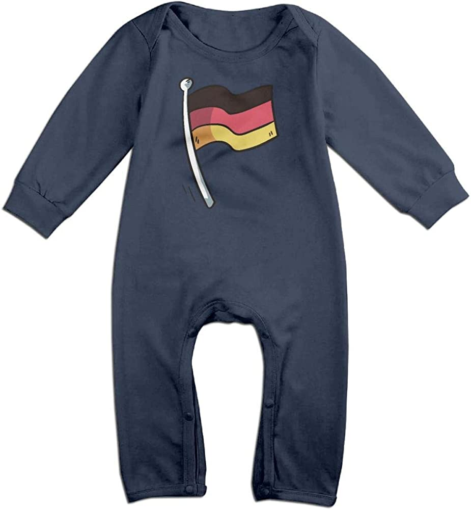 UGFGF-S3 Flag of Germany Flag Long Sleeve Infant Baby Boy Girl Baby Romper Jumpsuit Onsies for 6-24 Months Bodysuit