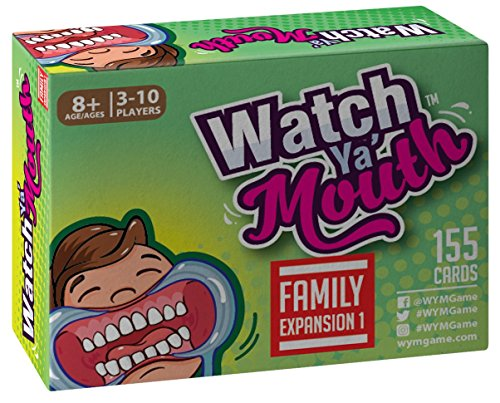 Watch Ya Mouth Family Expansion #1 Card Game Pack, for All Mouth Guard Games ()