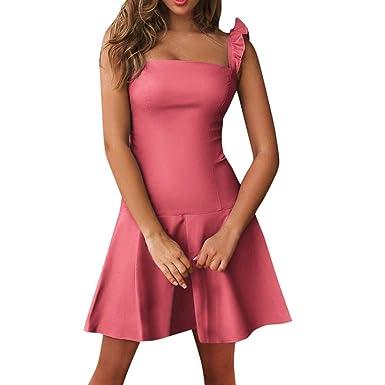 Vestidos Mujer Moda Fiesta Impresión de Lunares Vestido Elegante ...