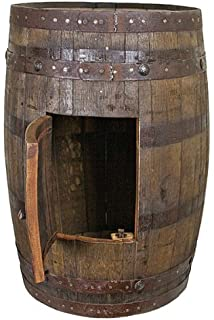Whiskey Barrel With Side Storage   Mancave   Bar   Vanity   Sink