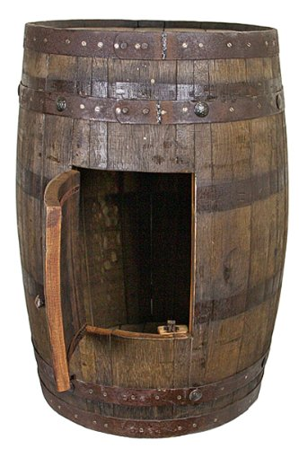Amazoncom Whiskey Barrel With Side Storage Mancave Bar