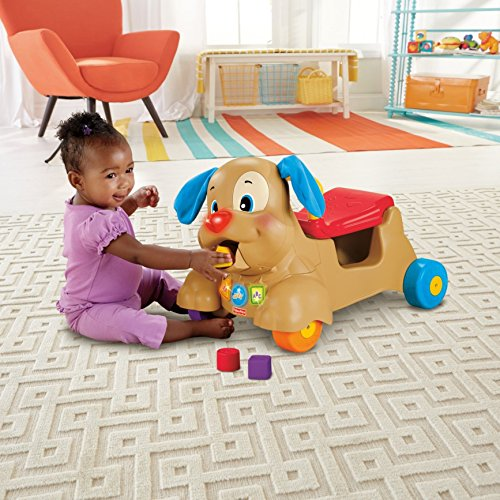 51dhduCwjzL - Fisher-Price Laugh & Learn Stride-to-Ride Puppy [Amazon Exclusive]