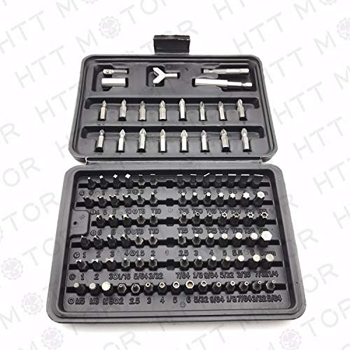 - HTTMT 100 - Pcs 1/4 Torx Hex Torq Security Bit Set Tamper Proof Case Screwdriver