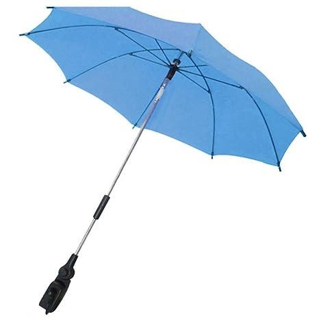 Gosear Parasol para sombrilla bebe carritos Paraguas Accesorios (Color Azul)