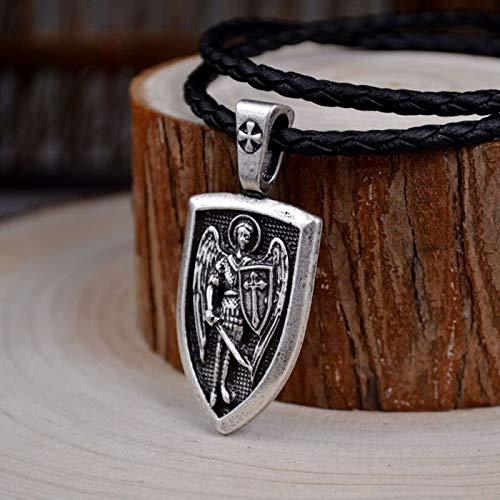 - Men Necklace | Archangel St.Michael Mn Saint Shield Protection Charm Russian Pendant Necklace