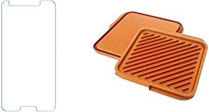 Gotham Steel Smokeless Grill Indoor Grill Ultra Nonstick Electric Grill & Steel This Classic Ceramic And Titanium Nonstick Double Grill, lARGE, Brown