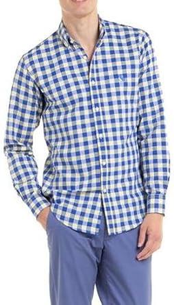 El Ganso Camisa Vichy Multicolor 42 Azul: Amazon.es: Ropa y ...